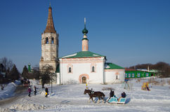 Winter day in Suzdal, Russia Stock Photography