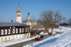 Winter day in Suzdal, Russia Royalty Free Stock Image