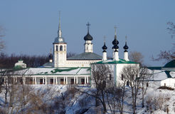 Winter day in Suzdal, Russia Royalty Free Stock Photo