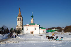 Winter day in Suzdal, Russia Royalty Free Stock Images
