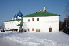 Winter day in Suzdal, Russia. Kremlin and Cathedral of the Nativ Royalty Free Stock Images