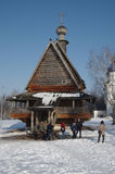 Winter day in Suzdal, Russia. Saint Nicholas church Royalty Free Stock Photo