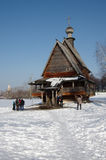 Winter day in Suzdal, Russia. Saint Nicholas church Royalty Free Stock Photography