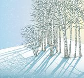 Winter day. Vector image of a winter landscape vector illustration