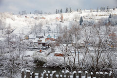 Winter day in the Village Stock Images