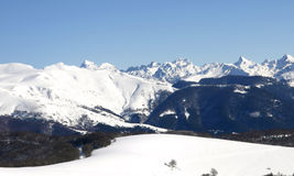 Winter days. View of the pyrenees in spain Royalty Free Stock Photography