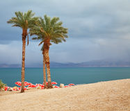 Winter on the Dead Sea Royalty Free Stock Photos