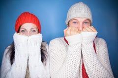 Winter december couple Stock Photos