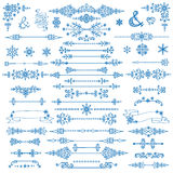 Winter decor,Divider bordes.Christmas,New Year set Royalty Free Stock Image