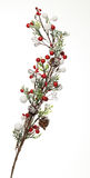 Winter decoration. Image of a winter decorated little branch against a white background. Such decoration is used during the Saint Nicholas day and night in Stock Photos