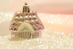 Winter decoration with glitter Stock Photo
