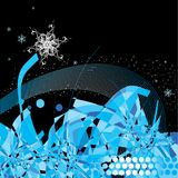 Winter decorative illustration royalty free stock photos