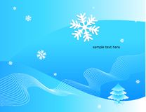 Winter decorative illustration Stock Images