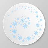 Winter decorative plate. Stock Image