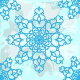 Winter decorative seamless background pattern with snowflakes. Stock Photo