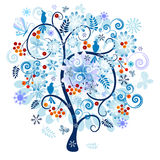 Winter decorative tree Royalty Free Stock Images
