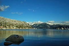 Winter in deep cove Stock Photography