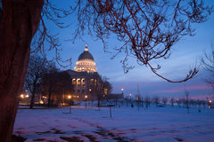 Winter Deep Freeze Sunrise Landscape Utah State Capital Architecture Royalty Free Stock Image