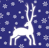 Winter Deer. Decorative image of a deer and snowflakes Stock Photos