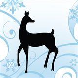 Winter Deer - Holiday Theme Stock Image