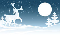 Winter Deer Illustration Royalty Free Stock Images