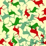 Winter deer seamless background. + EPS10 Royalty Free Stock Photo