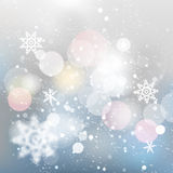 Winter defocused background. Falling snow texture Stock Photography