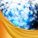 Winter delightful snowfall Colorful elegant on abstract background Stock Photo