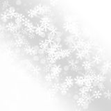 Winter delightful snowfall Colorful elegant on abstract background Royalty Free Stock Photos