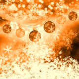 Winter delightful snowfall Colorful elegant on abstract background Royalty Free Stock Photo