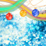 Winter delightful snowfall Colorful elegant on abstract background Royalty Free Stock Images