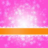 Winter delightful snowfall Colorful elegant on abstract background Stock Photography