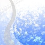 Winter delightful snowfall Colorful elegant on abstract background Stock Photos