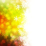 Winter delightful snowfall Colorful elegant on abstract background Stock Image