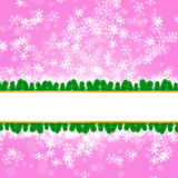 Winter delightful snowfall Colorful elegant on abstract background Stock Images