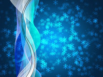 Winter delightful snowfall Colorful elegant on abstract background Royalty Free Stock Photography