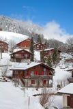 Winter in den Alpen stockbilder