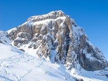 Winter in den Alpen stockfoto