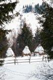 Winter in den Bergen Lizenzfreies Stockfoto