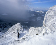 Winter in den Felsen Stockfoto
