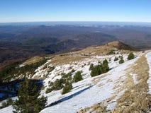 Winter in den Krimbergen lizenzfreies stockbild