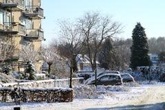 Winter in den Niederlanden Stockbilder