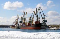 Winter in den Seehäfen Lizenzfreie Stockfotografie