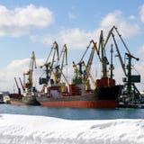 Winter in den Seehäfen. Stockbilder