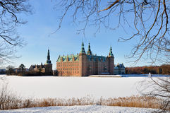 Winter in Denmark. The famous Danish Frederiksborg Castle in Hillerod Royalty Free Stock Photography