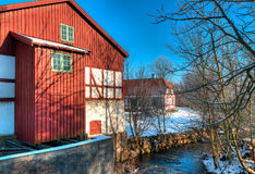 Winter in Denmark. At a museum in Odense there is a lot to photograph at all seasons Stock Photography