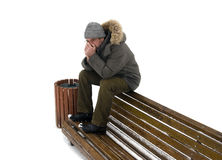 Winter depression. isolated Royalty Free Stock Photos