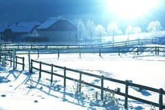 Winter in der Alpe Lizenzfreie Stockfotos