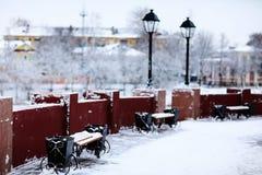 Winter in der alten Stadt Lizenzfreies Stockbild