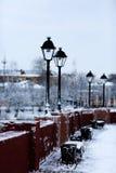 Winter in der alten Stadt Stockbilder